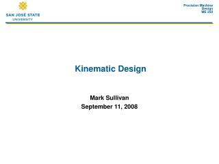 Kinematic Design