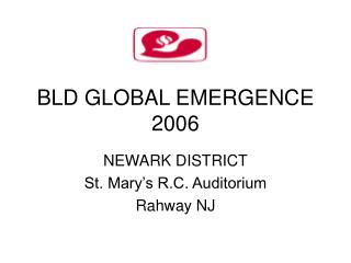 BLD GLOBAL EMERGENCE 2006