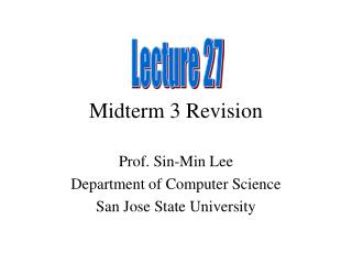 Midterm 3 Revision