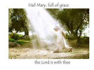Hail Mary, full of grace