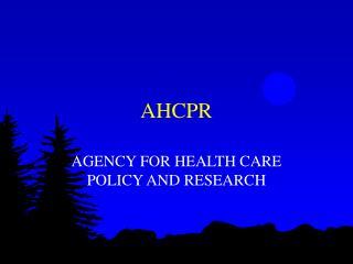 AHCPR