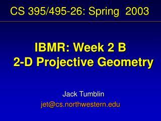 CS 395/495-26: Spring 2003