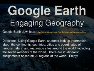 Google Earth Engaging Geography