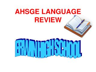AHSGE LANGUAGE REVIEW