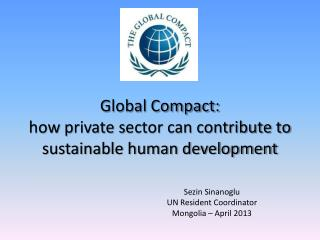 Global Compact:  how  p rivate  s ector can contribute to sustainable human development