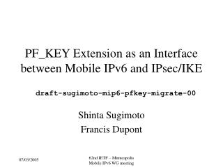 PF_KEY Extension as an Interface between Mobile IPv6 and IPsec/IKE