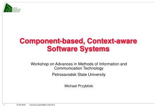 Component-based, Context-aware Software Systems