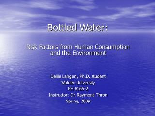 Bottled Water: