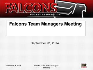 Falcons Team Man a gers Me e ting
