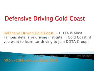 Advanced Defensive Driving Training Insitute in Queensland