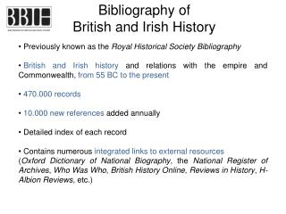 Bibliography of British and Irish History