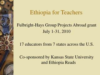 Ethiopia for Teachers