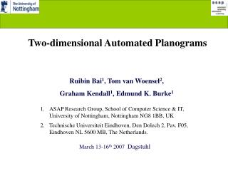 Two-dimensional Automated Planograms