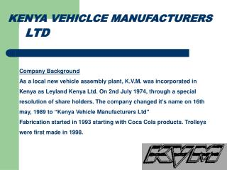 KENYA VEHICLCE MANUFACTURERS