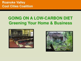 GOING ON A LOW-CARBON DIET Greening Your Home & Business