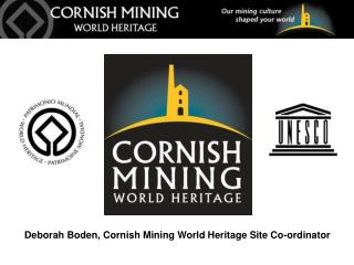 Deborah Boden, Cornish Mining World Heritage Site Co-ordinator