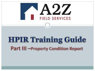 HPIR Training Guide