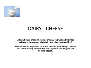 DAIRY - CHEESE