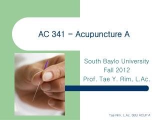 AC 341 - Acupuncture A