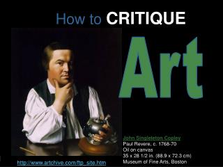 How to  CRITIQUE