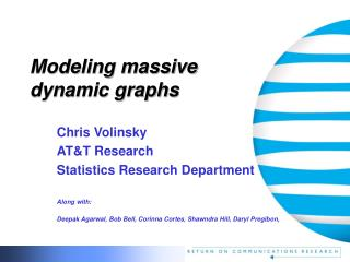 Modeling massive  dynamic graphs