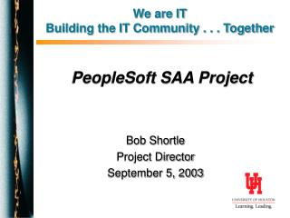 PeopleSoft SAA Project
