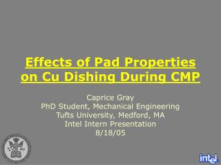 Effects of Pad Properties on Cu Dishing During CMP