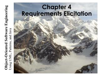 Chapter 4  Requirements Elicitation