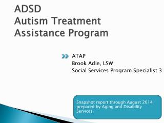 ADSD  Autism Treatment   Assistance Program