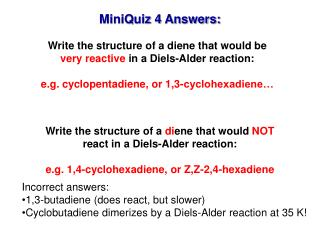MiniQuiz 4 Answers: