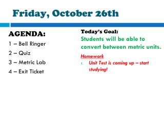 Friday, October 26th