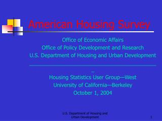 American Housing Survey
