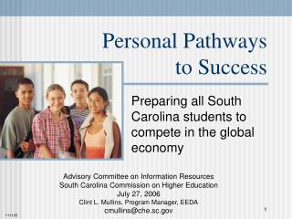 Personal Pathways to Success