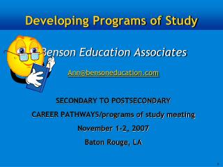 Developing Programs of Study