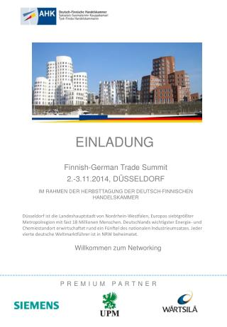 Finnish-German  Trade  Summit 2 .-3.11.2014, DÜSSELDORF