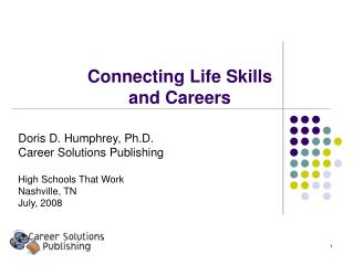 Connecting Life Skills  and Careers