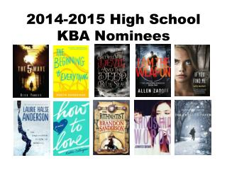 2014-2015 High School  KBA Nominees