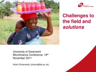 Challenges to the field and solutions