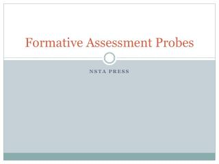 Formative Assessment Probes