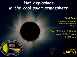 Hot  explosions in the cool solar atmosphere