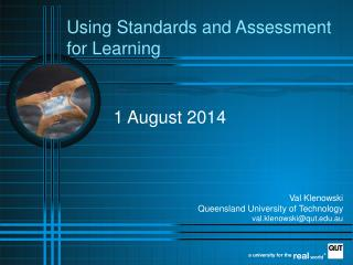 Using Standards and Assessment  for Learning