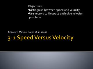3-1 Speed Versus Velocity