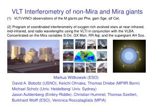 VLT Interferometry of non-Mira and Mira giants