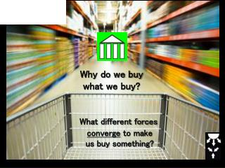 Why do we buy  what we buy?  What different forces  converge  to make        us buy something?
