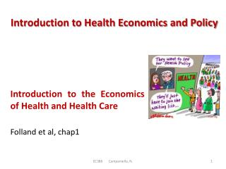 Introduction to Health Economics and Policy
