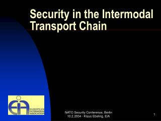 Security in the Intermodal Transport Chain
