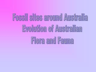 Fossil sites around Australia
