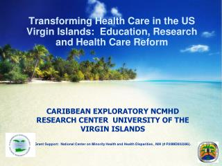 Transforming Health Care in the US Virgin Islands:  Education, Research and Health Care Reform