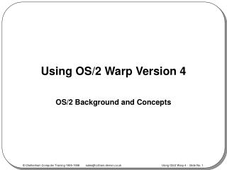 Using OS/2 Warp Version 4