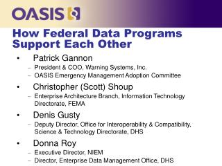 How Federal Data Programs Support Each Other